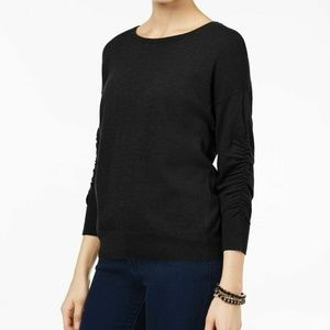 INC International Concepts Ruched-Sleeve Sweater